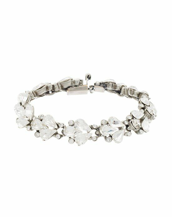 Thomas Laine Ben-Amun Small Crystal Fan Teardrop Bracelet Wedding Bracelet photo