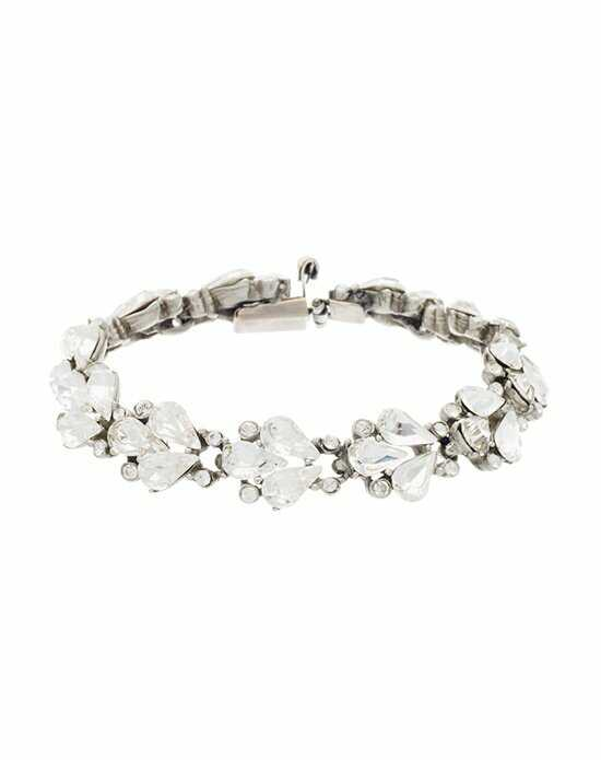Thomas Laine Ben-Amun Small Crystal Fan Teardrop Bracelet Wedding Bracelets photo