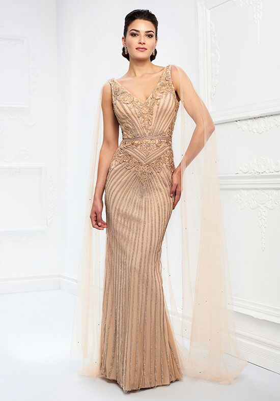 Ivonne D. 218D30 Champagne Mother Of The Bride Dress