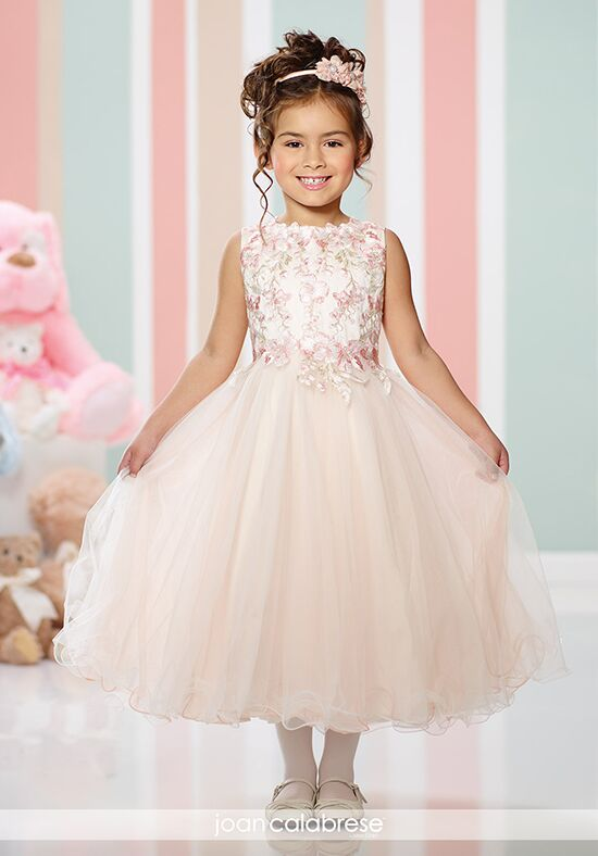 Joan Calabrese by Mon Cheri 216300 Ivory Flower Girl Dress