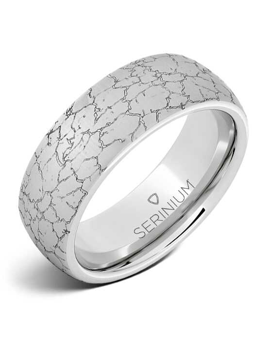 Serinium® Collection Tectonic Dome Engraved Serinium® Ring Serinium® Wedding Ring