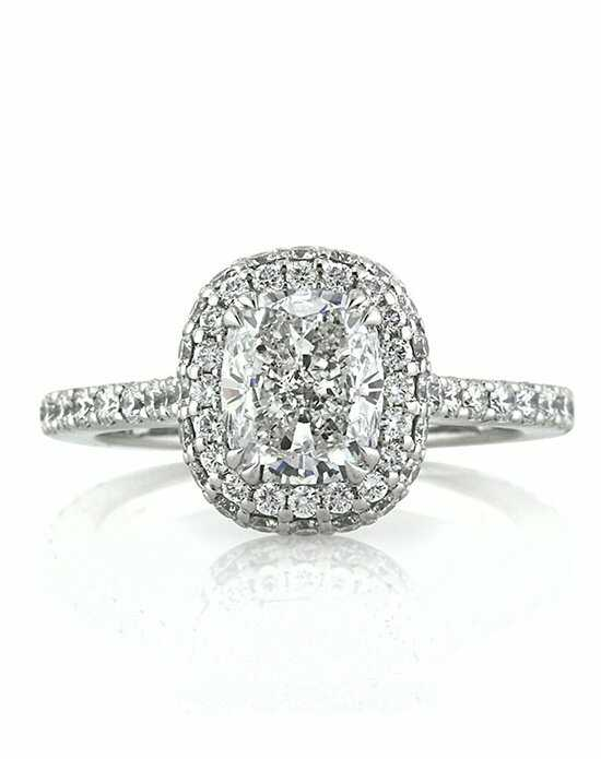 Mark Broumand Elegant Cushion Cut Engagement Ring