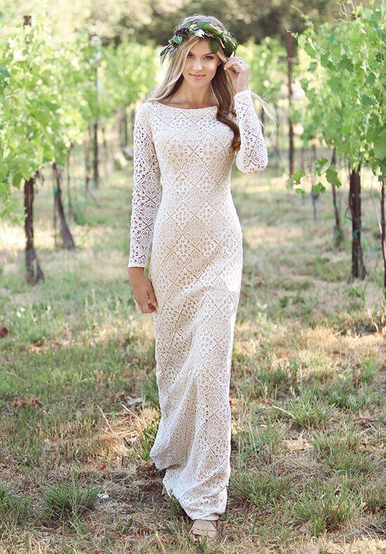 Modest By Mon Cheri Tr11832 Sheath Wedding Dress