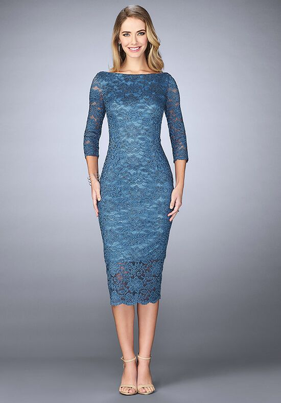 La Femme Evening 24875 Blue Mother Of The Bride Dress