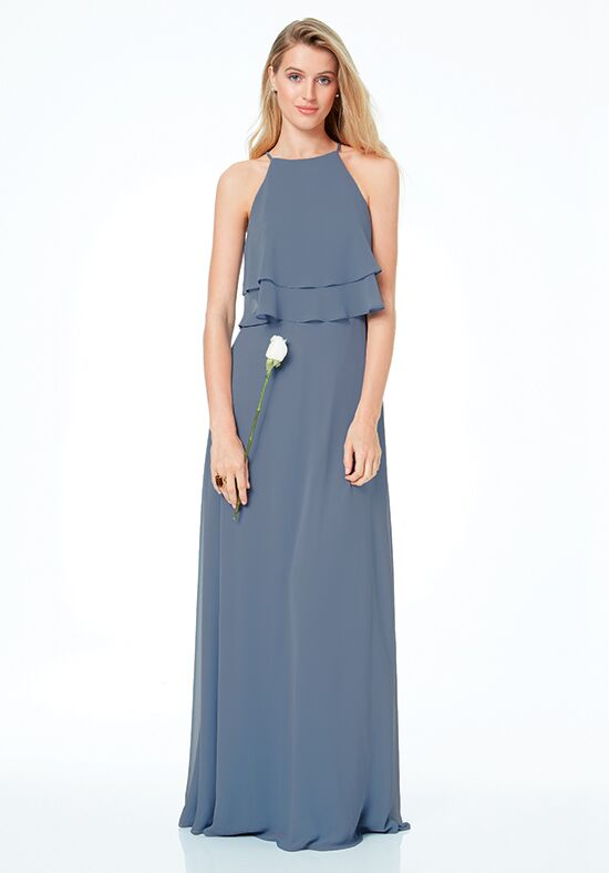 #LEVKOFF 7030 Halter Bridesmaid Dress