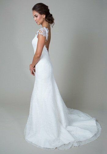 heidi elnora Nora Georgette Wedding Dress - The Knot