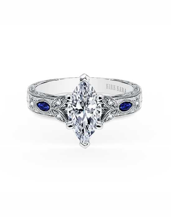 Kirk Kara Unique Marquise Cut Engagement Ring