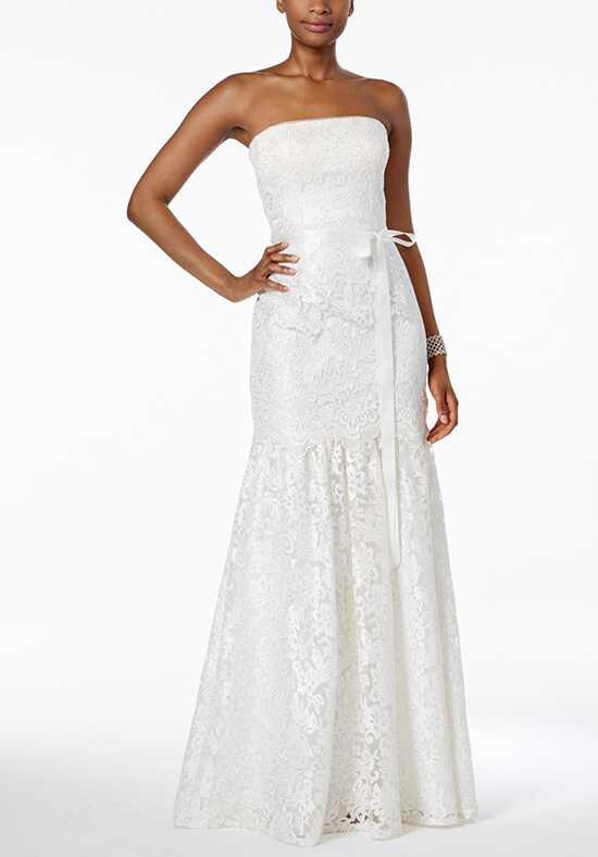 Adrianna Papell Wedding Dresses Adrianna Papell Lace Strapless Mermaid Gown Mermaid Wedding Dress