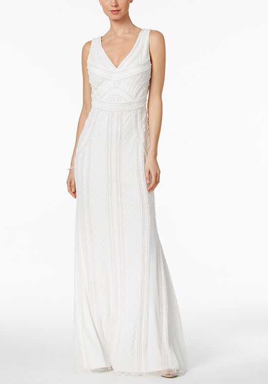 Adrianna Papell Wedding Dresses Adrianna Papell Scoop-Back Mermaid Gown Mermaid Wedding Dress