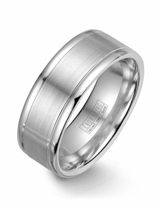 CrownRing WB-7134SP-M10 White Gold Wedding Ring