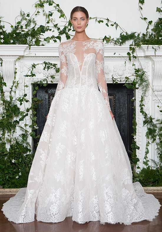 Monique Lhuillier Channing Ball Gown Wedding Dress