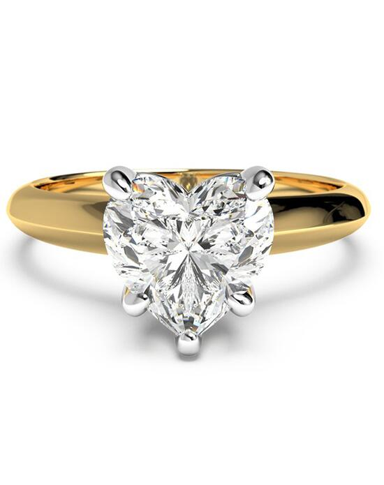 Ritani Solitaire Diamond Knife-Edge Engagement Ring - in 18kt Yellow Gold for a Heart Center Stone Engagement Ring photo