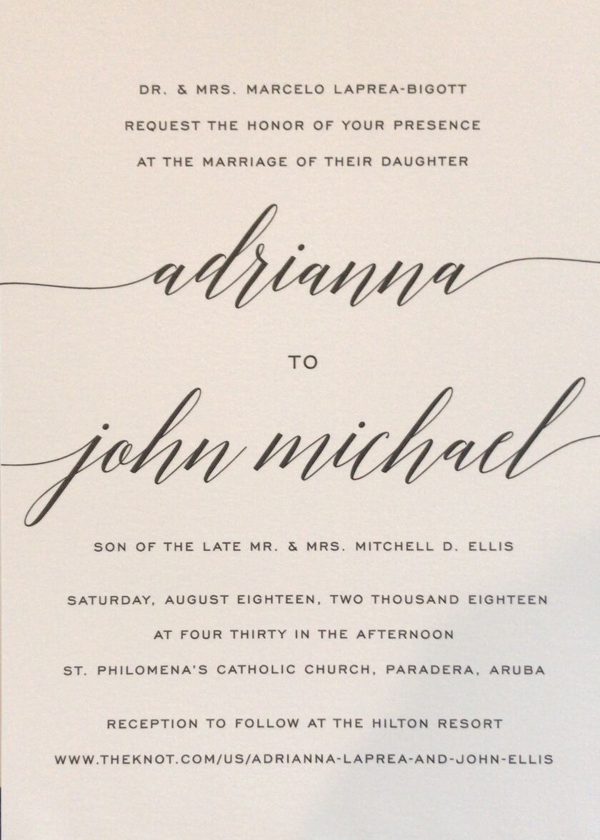 adrianna laprea and john elliss wedding website