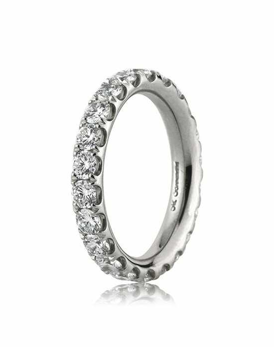 Mark Broumand 2.10ct Round Brilliant Cut Diamond Eternity Band Platinum Wedding Ring