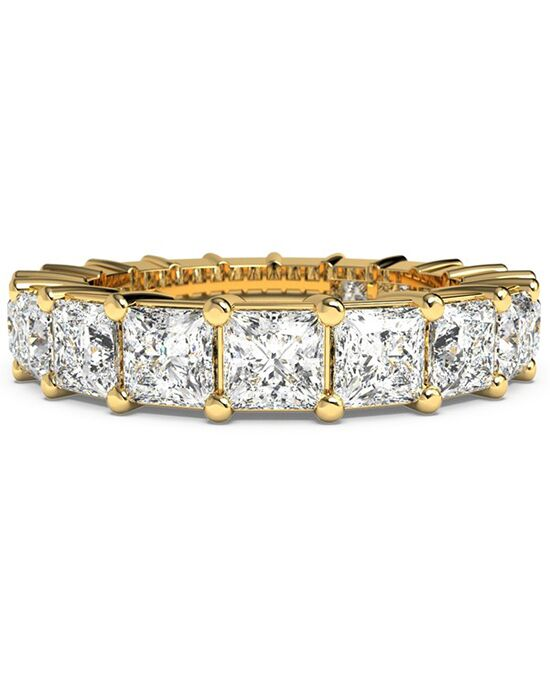 Ritani Women's Princess-Cut Diamond Prong-Set Eternity Ring - in 18kt Yellow Gold - (3.99 CTW) Gold Wedding Ring