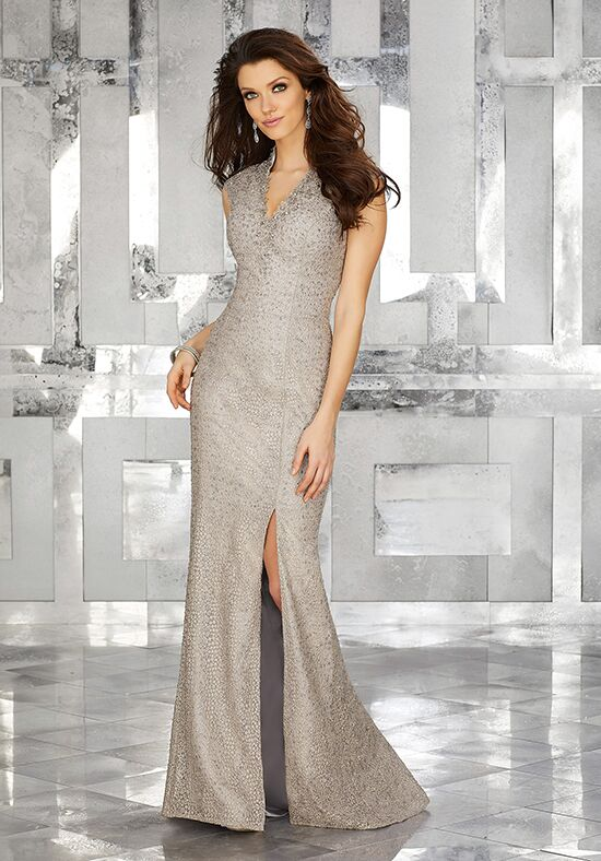 MGNY 71601 Silver Mother Of The Bride Dress
