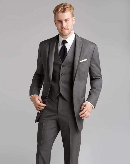 Jos. A. Bank Satin Edge Gray Tuxedo Wedding Tuxedos + Suit photo
