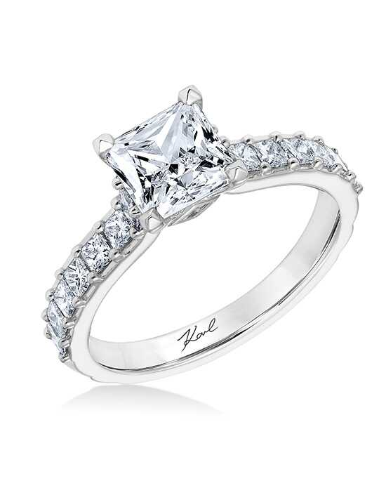 karl lagerfeld glamorous princess cut engagement ring