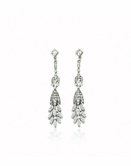 Thomas Laine Ben-Amun Crystal Drop Earrings Wedding Earring photo