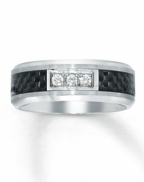 Genial Kay Jewelers Tungsten/ Carbon Fiber Menu0027s Diamond Ring 51117101 Wedding Ring