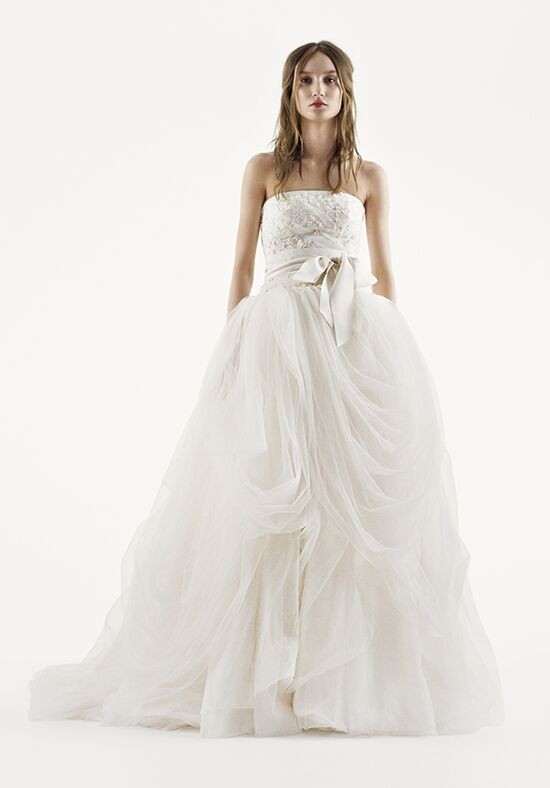 White by vera wang white by vera wang style vw351077 for Average price of vera wang wedding dress