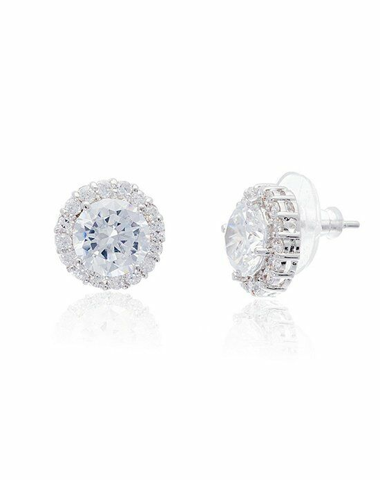 Thomas Laine Malin Round Halo Stud Earrings Wedding Earring photo