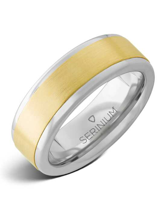 Serinium® Collection Cancun — Serinium® and 14k Yellow Gold Ring-RMSA002583 Serinium® Wedding Ring