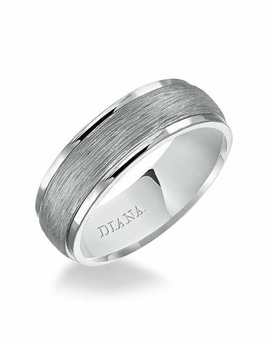 Diana 11-N80WR7-G Platinum, White Gold Wedding Ring