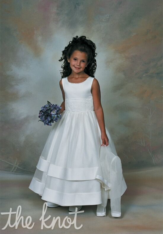 Sweetie Pie Collection 106 White Flower Girl Dress