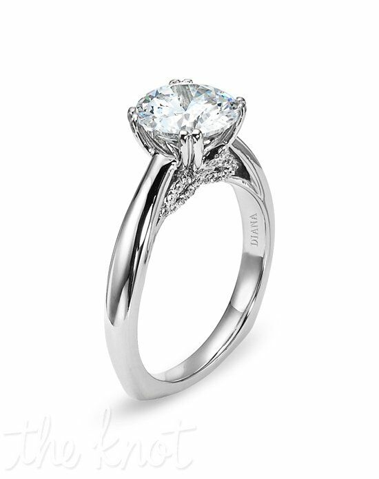 Diana 31-N155HRD-E Palladium Wedding Ring