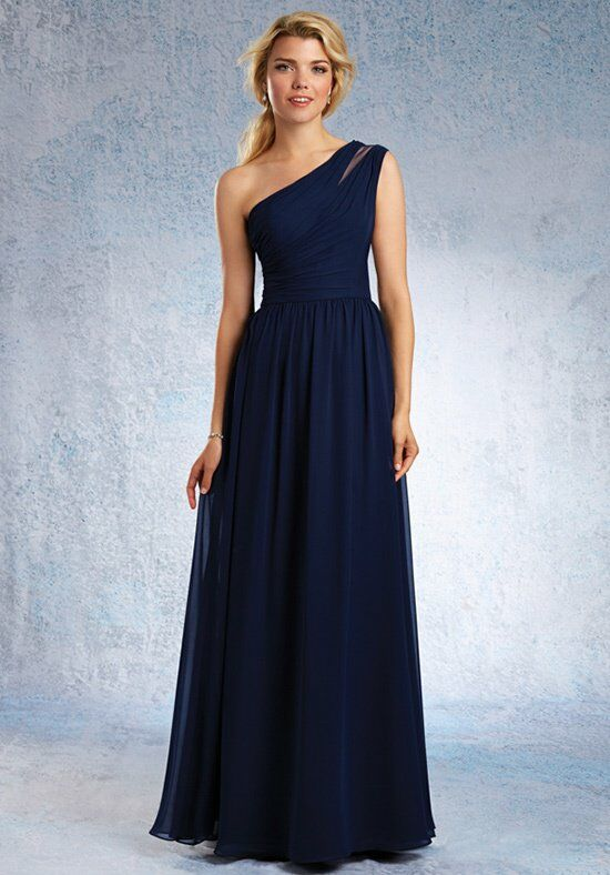 Alfred Angelo Signature Bridesmaids Collection 7322L One Shoulder Bridesmaid Dress