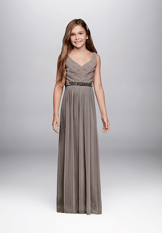 David's Bridal Junior Bridesmaids David's Bridal Style JB9609 V-Neck Bridesmaid Dress