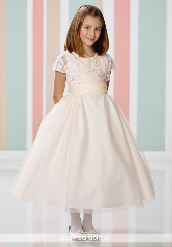 Joan Calabrese by Mon Cheri 216312 Pink Flower Girl Dress