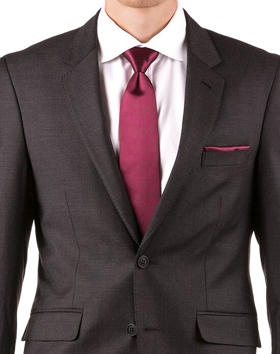 Generation Tux Charcoal Notch Lapel Suit Gray, White, Black Tuxedo