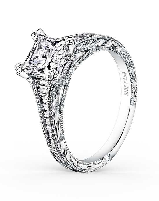 Kirk Kara Unique Princess Cut Engagement Ring