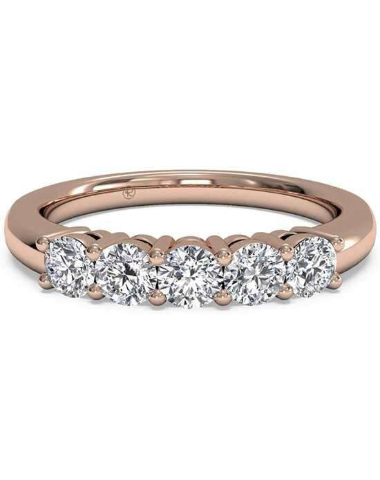 Ritani Women's Five-Stone Diamond Wedding Band - in 18kt Rose Gold (0.50 CTW) Rose Gold Wedding Ring