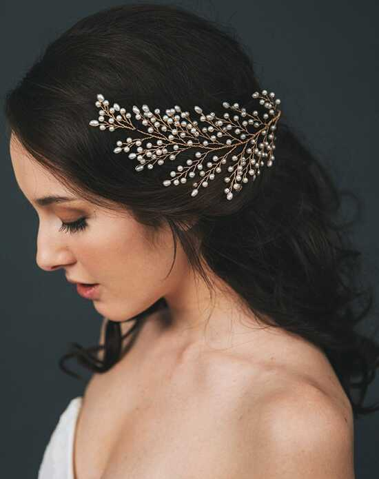 Davie & Chiyo | Hair Accessories & Veils Sofie Headpiece Gold, Ivory, Silver Pins, Combs + Clip
