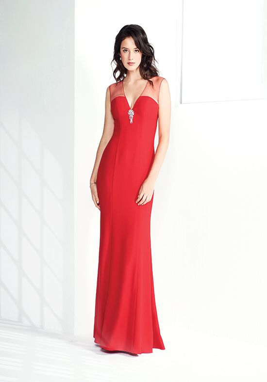 Colour by Kenneth Winston 5271L V-Neck Bridesmaid Dress