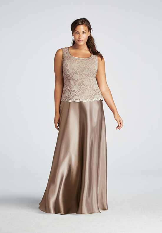 David's Bridal Mother of the Bride 756899D Brown Mother Of The Bride Dress
