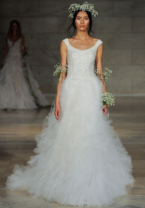Reem Acra Marvel Ball Gown Wedding Dress
