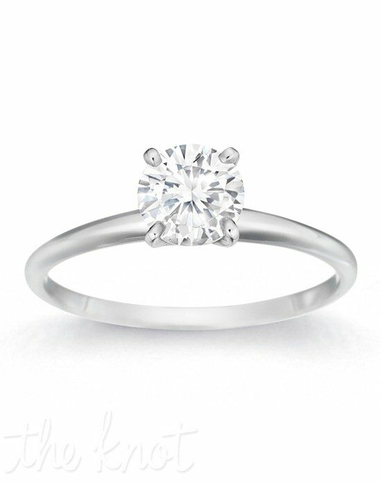 Gemesis Gemesis Graceful Four-Prong Round White Gold Wedding Ring