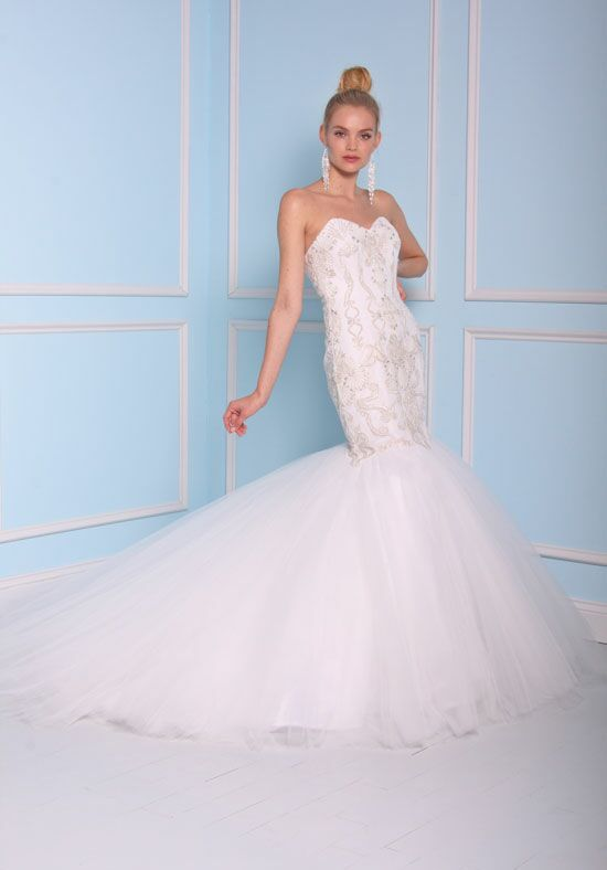 Christian siriano for kleinfeld 17105 wedding dress the knot for Kleinfeld mermaid wedding dresses