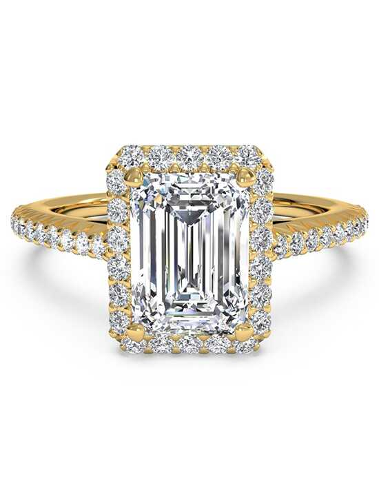 Ritani Elegant Emerald Cut Engagement Ring