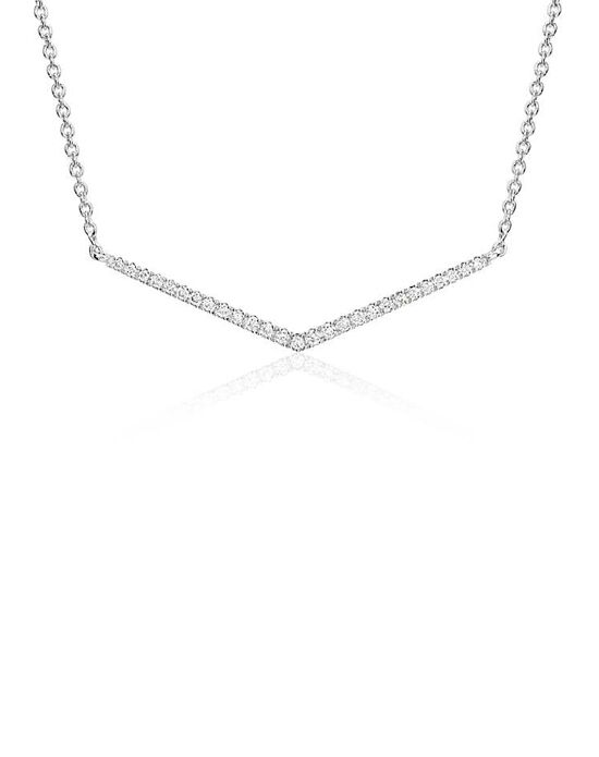 Blue Nile Mini Diamond Chevron Necklace Wedding Necklace photo