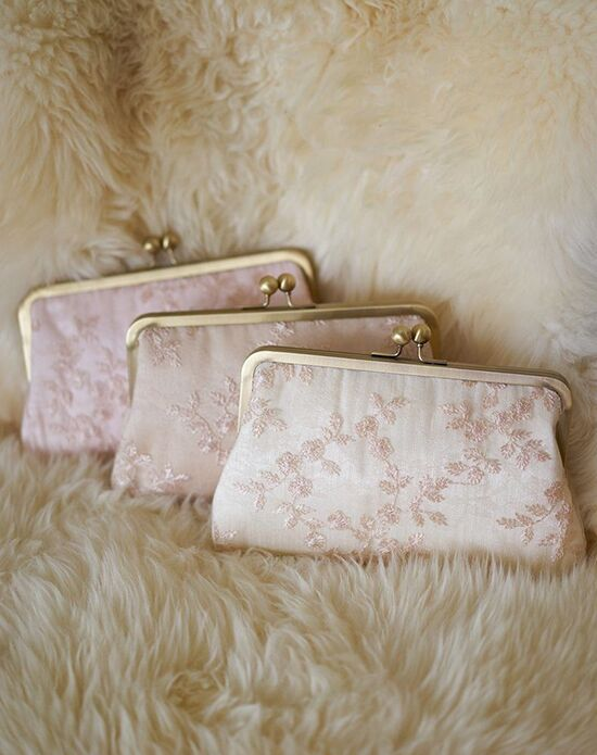 Davie & Chiyo | Clutch Collection Antoinette Clutch Set: Seashell Ivory, Pink, Champagne Clutches + Handbag