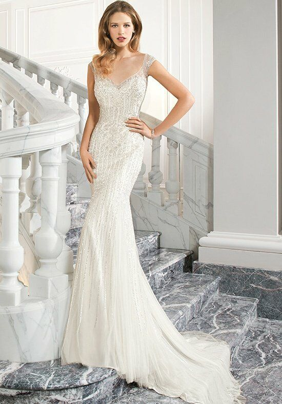 Demetrios C213 Sheath Wedding Dress