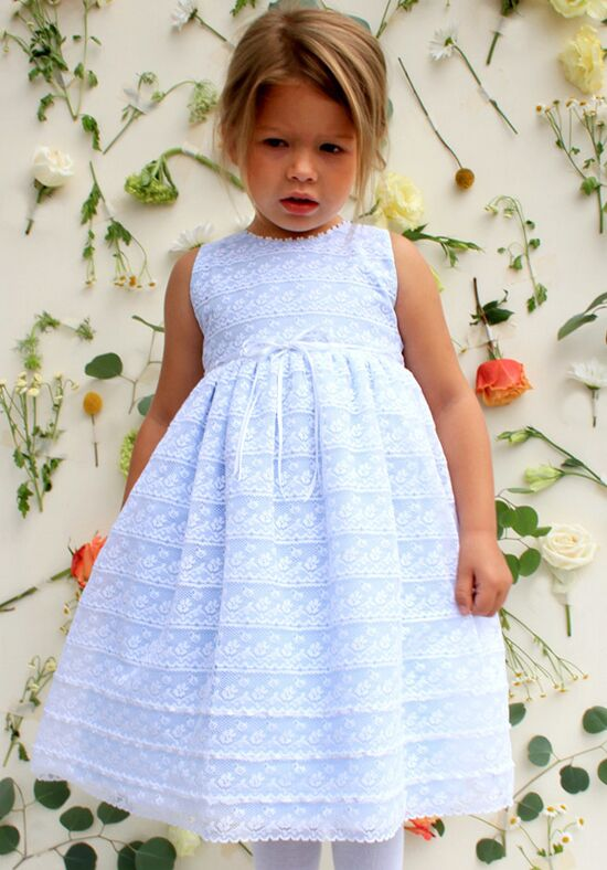 Isabel Garretón Illusion Blue Flower Girl Dress