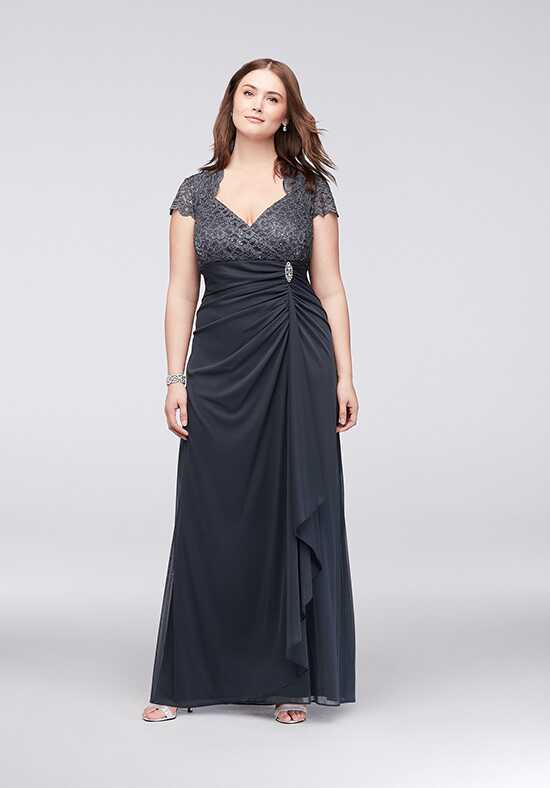 David's Bridal Mother of the Bride A18436W Grey Mother Of The Bride Dress
