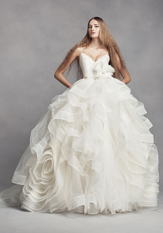 White by vera wang white by vera wang style vw351371 for Average price of vera wang wedding dress