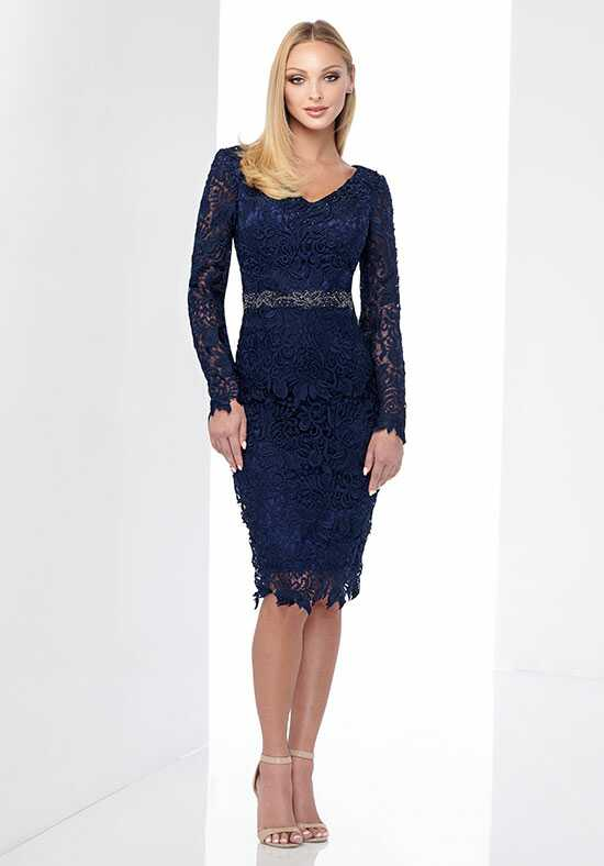 Social Occasions by Mon Cheri 218813 Blue Mother Of The Bride Dress